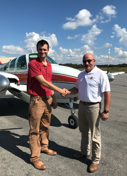 Ambrose Completes Multi-Engine Add-On Checkride at Ozarka College Photo