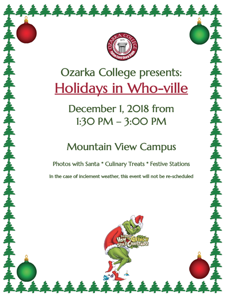 Santa is Coming to Ozarka College - Mtn. View Photo
