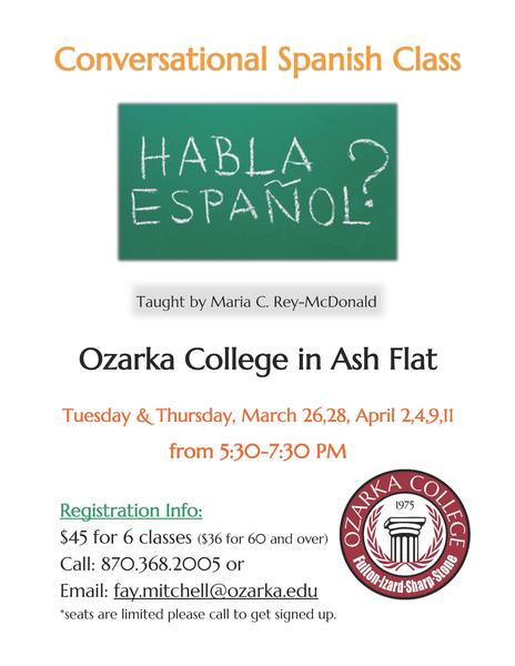 Conversational Spanish Class in Ash Flat