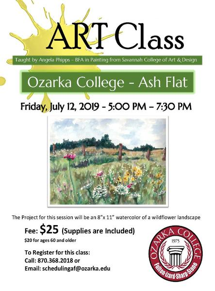 Paint Class to be offered at Ozarka College - Ash Flat Photo