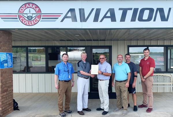 Ozarka College's Aviation Program Receives Renewed Certification from FAA