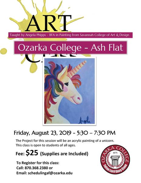 Paint Class to be offered at Ozarka College - Ash Flat