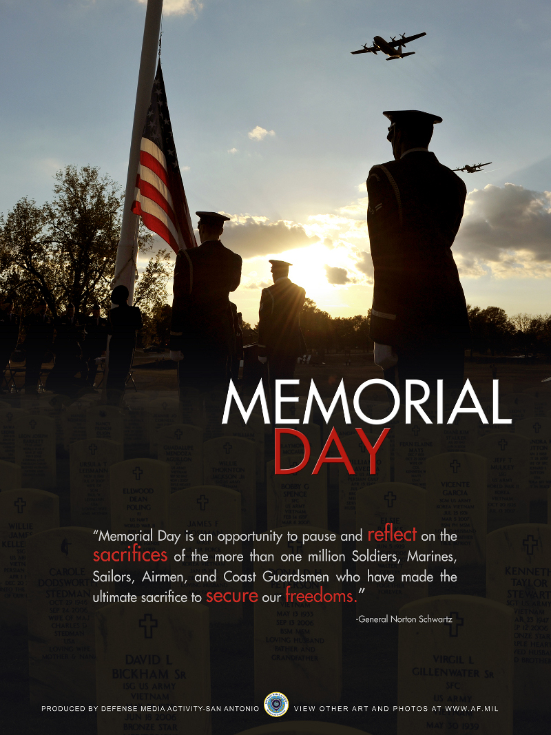 in observance of memorial day Ozarka College